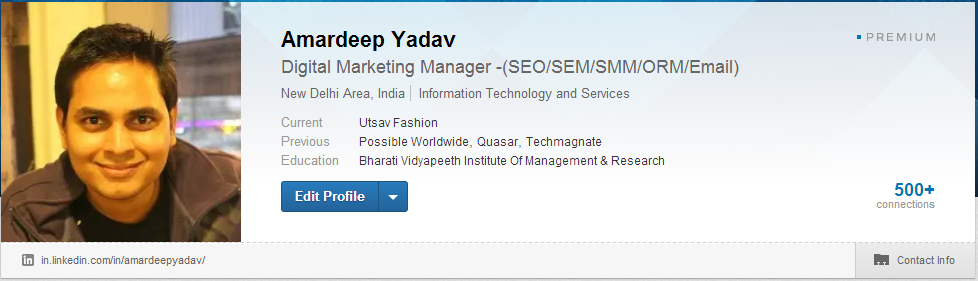 Amardeep Yadav on Linkedin