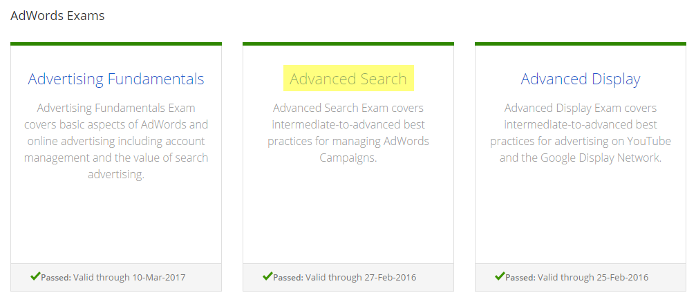 Google Adwords Advance Search