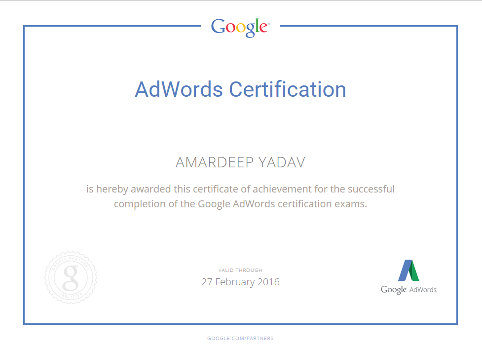 Google AdWords - Advertising Fundamentals